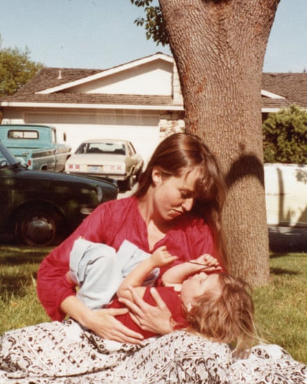 Lisa with her mother, Chrisann Brennan, in Saratoga, 1981