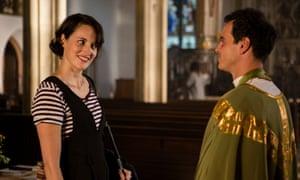 Scott as the priest in Fleabag with Phoebe Waller-Bridge