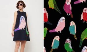 Gorman budgie dress and fabric