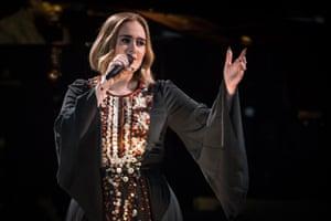 Emotional scenes … Adele's Glastonbury moment.