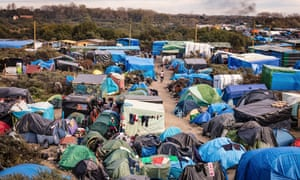 The Calais migrant camp in 2015.