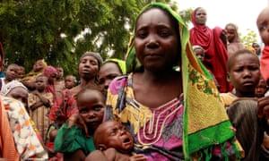 Aisa Kache, 35, and her son Shetene