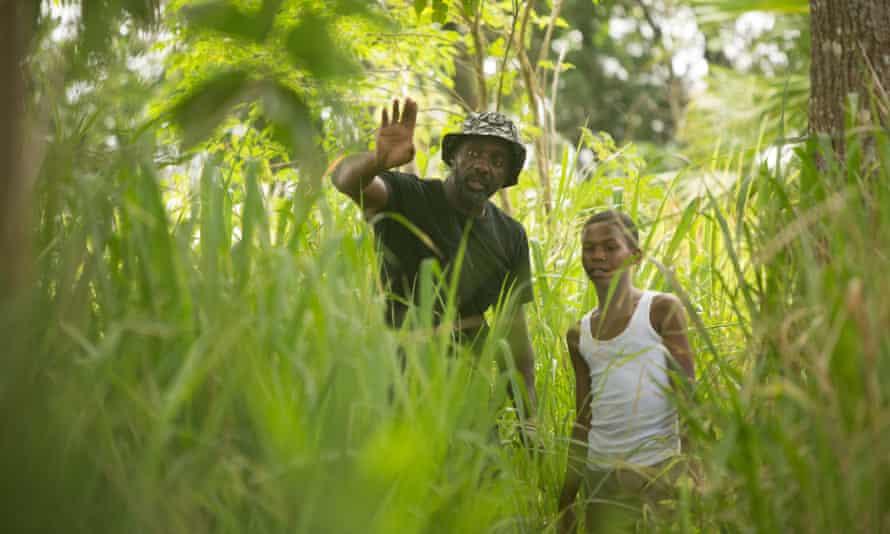 Idris Elba as director on the set of Yardie.