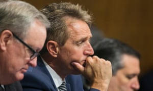 Jeff Flake is the senator who triggered the fresh FBI investigation of Brett Kavanaugh last Friday.