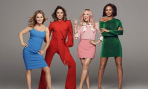 Spice Girls Geri Horner, Melanie Chisholm, Emma Bunton and Melanie Brown appear on the Jonathan Ross Show.