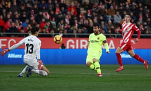 Lionel Messi scores their second goal.