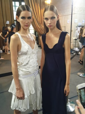 New York  fashion week: backstage at the Victoria Beckham  spring/summer 2017 show