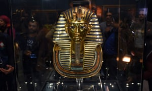 The restored mask of Tutankhamun at the Egyptian Museum in Cairo