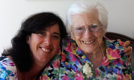Sarah Russell with her late mother