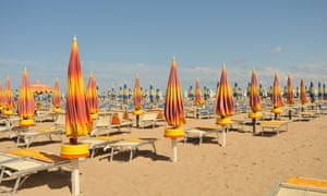 Journey's end … Rimini, and the beach.