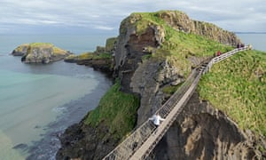 Don't look down: the terrifying Carrick-a-Rede rope bridge.