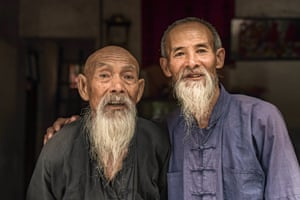 Two of the oldest cormorant fishermen in the village