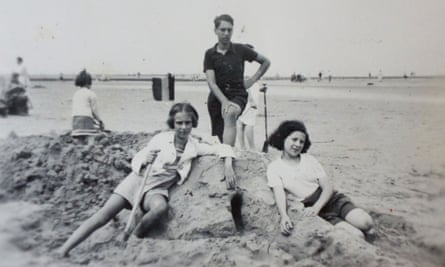 Eva Schloss, left, Heinz, and their friend Kitty. As their worlds shrank to a few rooms, the siblings' already close relationship became intense.