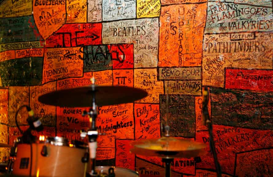 Cradle of success … a wall of fame at the Cavern Club in Liverpool.
