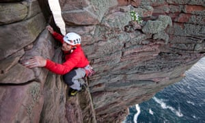 Jesse Dufton climbs the Old Man of Hoy