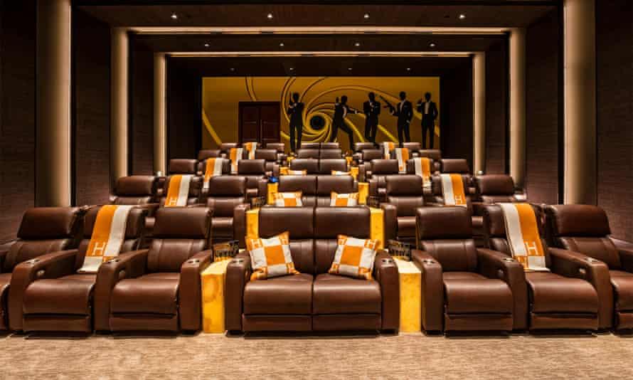 The James Bond-themed indoor cinema