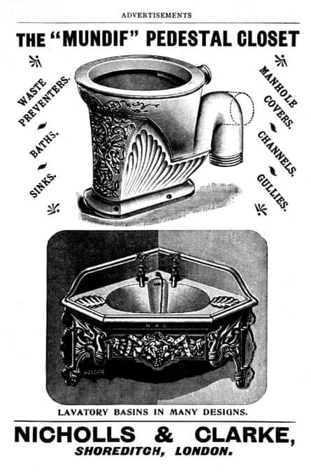An advert for a pedestal closet toilet, 1899.