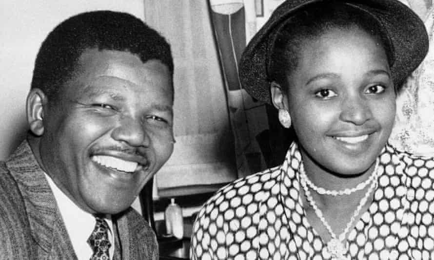 Nelson and Winnie Mandela at their wedding in Transkei, South Africa, in 1958