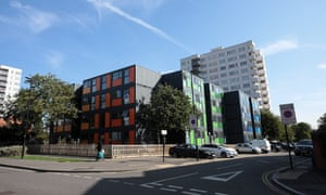 The shipping container flats at Meath Court.