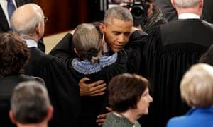 Obama embraces Ruth Bader Ginsburg