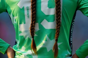 The plaits of Danielle Gregory of Oval Invincibles.