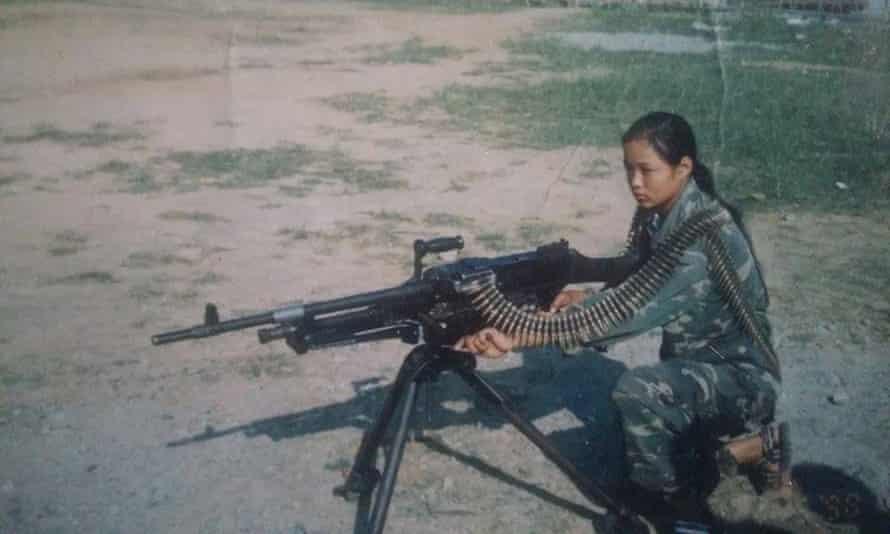 Rai at a Maoist training camp aged 14
