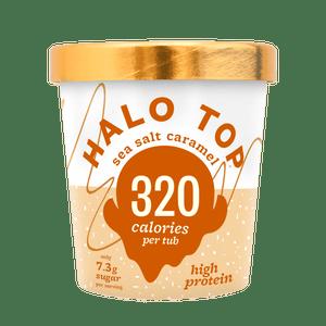 Halo Top sea salt caramel ice-cream.