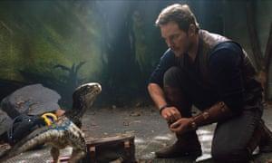 'Beefy self-deprecation' … Chris Pratt and colleague in Jurassic World: Fallen Kingdom.