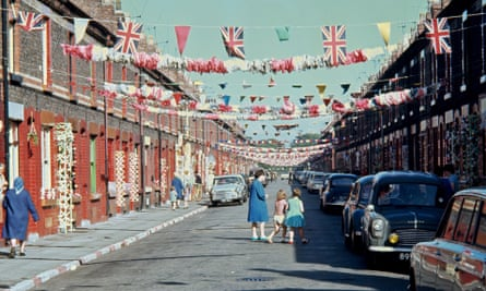 The residents of Claudia Street decorated their street and houses prior to the Brazil v Bulgaria Fifa World Cup match at Goodison Park in Liverpool in 1966