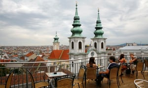 A rooftop cafe in Vienna, ranked the world's best city to live in.