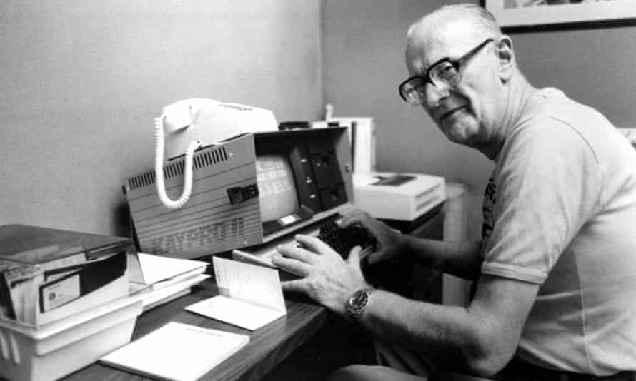 Arthur C Clarke in 1984.