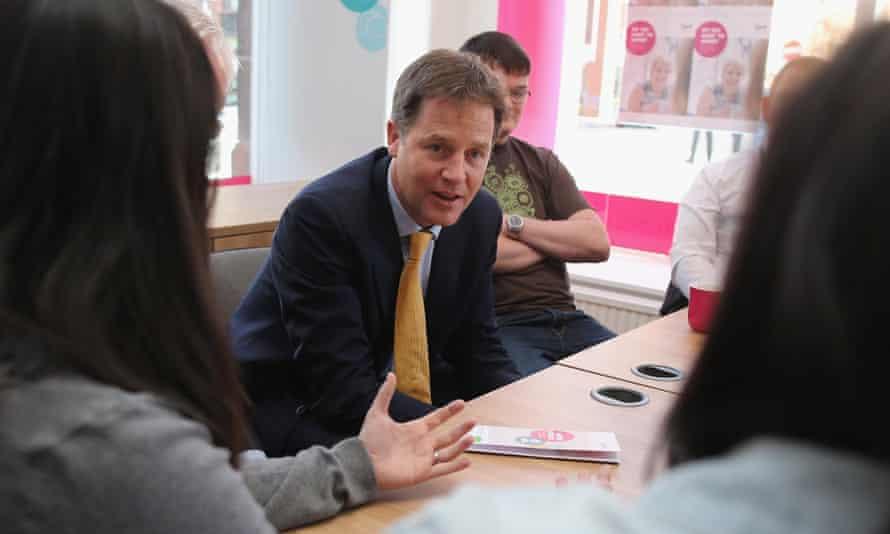 Nick Clegg, deputy prime minister, visits the Scottish Association for Mental Health