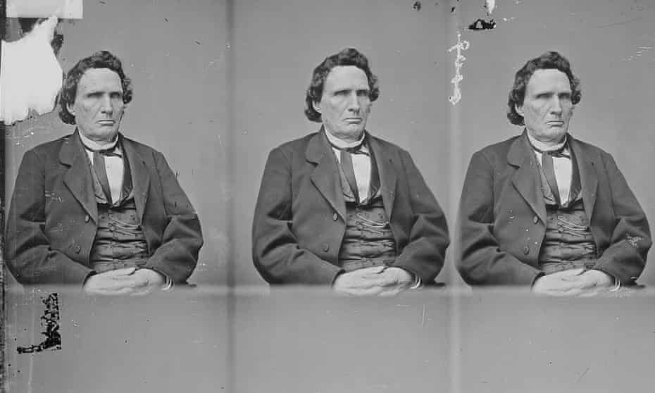 A half-ength seated portrait of Thaddeus Stevens, 1863, held in the National Archives.