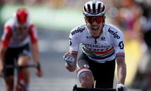 Mitchelton-Scott rider Daryl Impey wins the stage.