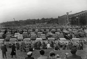A full car park at Wembley today.