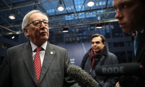 European Commission PresidentJean-Claude Juncker arrives for the second day of the European Union leaders summit