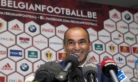 Roberto Martínez meets the Belgian press.