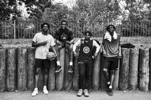 The winning team, Afeez, Joe, Samson and Emmanuel