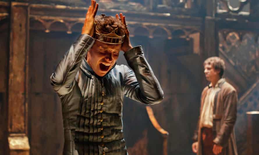 Eddie Redmayne on stage as Richard II at the Donmar Warehouse.