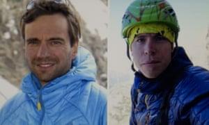 Briton Tom Ballard, right, and Italian Daniele Nardi disappeared on Nanga Parbat.