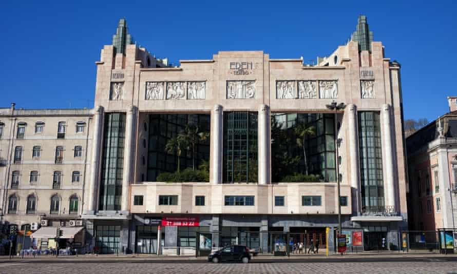 Exterior of the Eden Teatro building, Lisbon, Portugal.