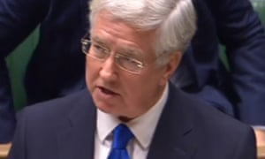 Defence Secretary Sir Michael Fallon makes a statement in the House of Commons.