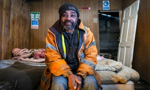 'I've paid into the kitty – now no one wants to help me' … Renford McIntyre in the industrial unit where he lives.