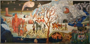 the right panel of Nicole Eisenman's Progress: Real and Imagined, 2006, from Radical Figures: Painting in the New Millennium. Photograph: Courtesy of Ringier AG/Sammlung Ringier, Switzerland