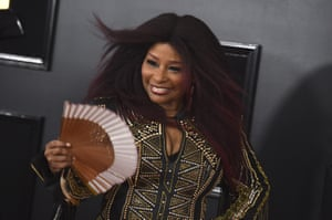 Chaka Khan at the 61st annual Grammy awards in Los Angeles, 10 February 2019.