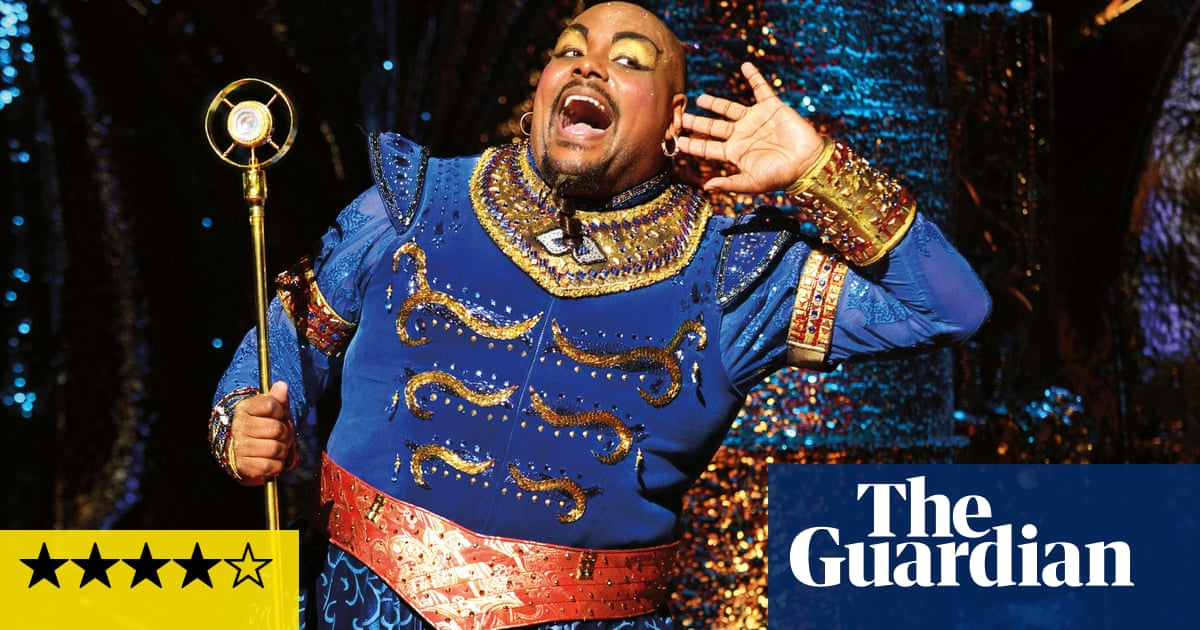 Aladdin review – Disney musical is a magic carpet ride to panto land