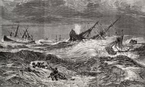 An artist's depiction of the Great Storm of 1703.
