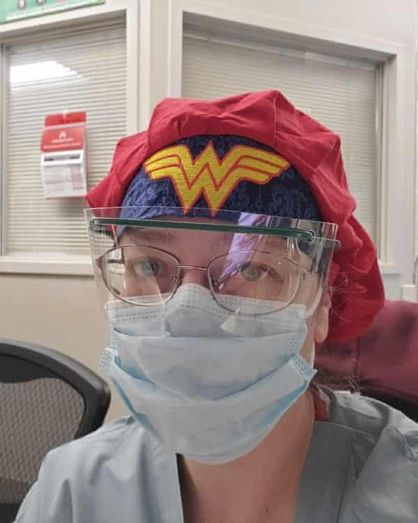Amy Arlund, an ICU nurse at Kaiser medical center in Fresno, California.