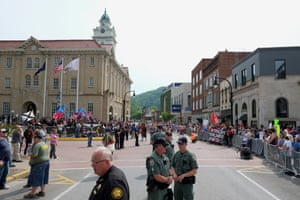 The scene in downtown Pikeville
