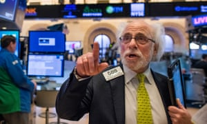 Wall Street's most famous face, Peter Tuchman on the floor of the New York Stock Exchange.